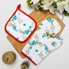 Комплект «Романтика: Розовый ноктюрн»: рукавичка (18 × 28 см), прихватка (18 × 18 см), рогожка, 190 г/м², хлопок 100 %