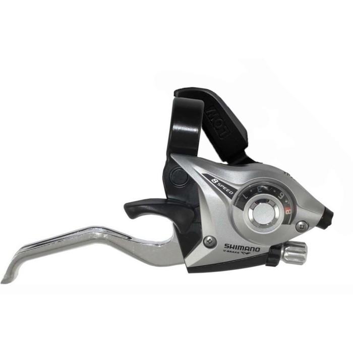 Шифтер с тормозной ручкой Shimano Tourney, EF51, прав, 8ск, цвет: серебристый