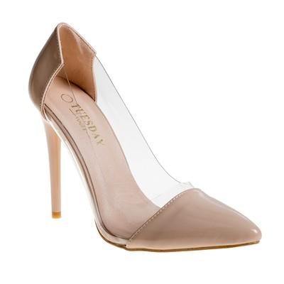 Туфли женские, цвет бежевый, размер 40