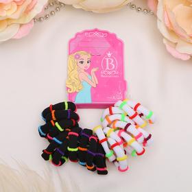 Резинка для волос 'Махрушка' (набор 20 шт) цветной обруч, микс Ош