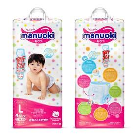 Подгузники-трусики Manuoki L 9-14 кг, 44 шт