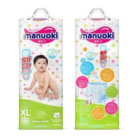 Подгузники-трусики Manuoki XL 12+ кг, 38 шт