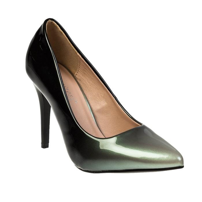 Туфли женские, цвет серебро, размер 39