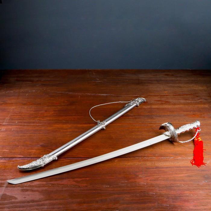 Сувенирная сабля, рукоять ажурная с упором, 85 см - фото 8876141
