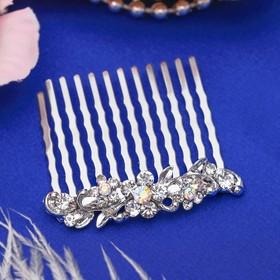 Гребень для волос 'Антуриум' 4,5*4 см, лепестки и завитки Ош