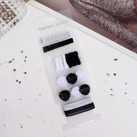 """Набор для волос """"Простой"""" (набор 30 шт.), чёрно-белый"""