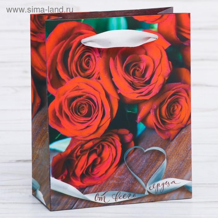 Пакет ламинат вертикальный «От всего сердца», MS 18 х 23 х 8 см