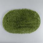 """Коврик для ванной """"Пушистик"""" 40х60 см овальный, зелёный"""
