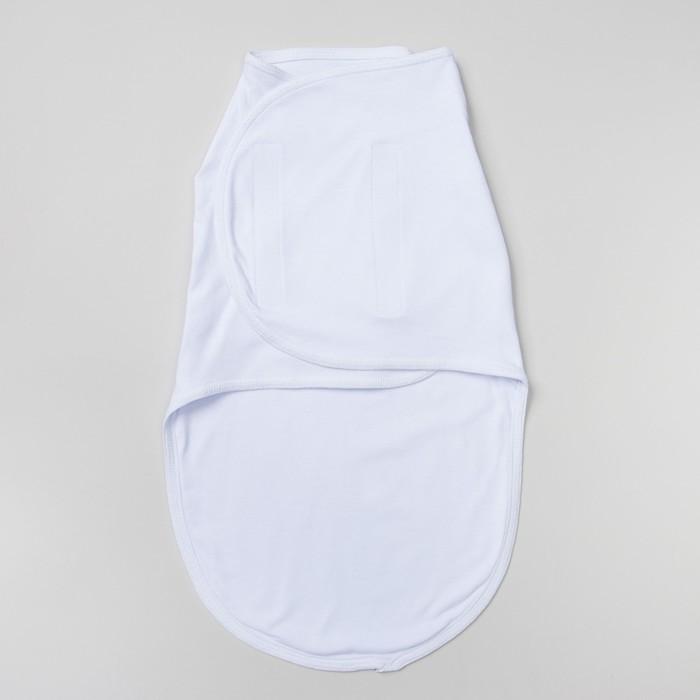 Пеленка-кокон на липучках, рост 50-62 см, интерлок, цвет белый 1139 - фото 105553665