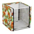 Клетка выставочная панорамная разборная, на трубках, ПВХ цветная/мех, 56 х 56 х 56 см