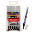 Маркер перманентный для декора Набор 6 цветов Sakura Pen-Touch спиртовая основа 2.0 мм