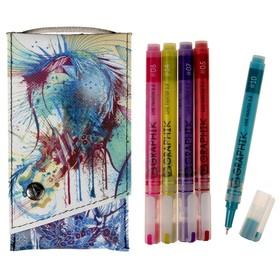 Набор ручек капиллярных  5цв Derwent Graphik Line Painter №3, 0.5 мм микс 2302232