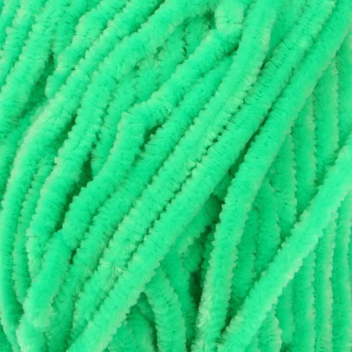"""Пряжа """"Velour"""" 100% микрополиэстер 170м/100г (861 яр. зеленый)"""