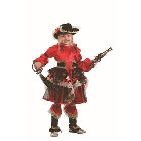 Карнавальный костюм «Пиратка», цвет красный, размер 32