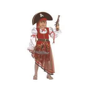 Карнавальный костюм «Пиратка», текстиль, размер 28