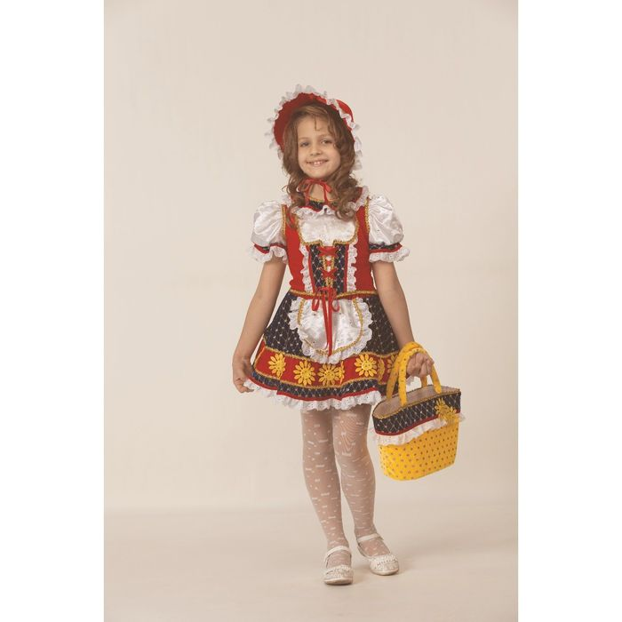 Карнавальный костюм «Красная шапочка», размер 32