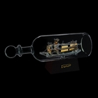 Корабль сувенирный в бутылке с золотистыми парусами «Корабль удачи», 8 × 26 × 10 см