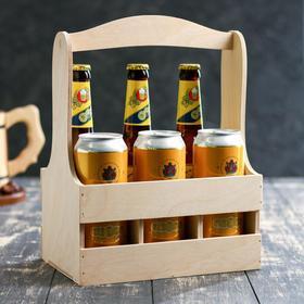 Ящик для бутылок, на 6 штуки, 27х17х33см