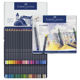 Карандаши художественные Faber-Castell 48 цветов, в металлической коробке