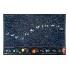Карта Звездного неба 60х90 см Светящаяся в темноте