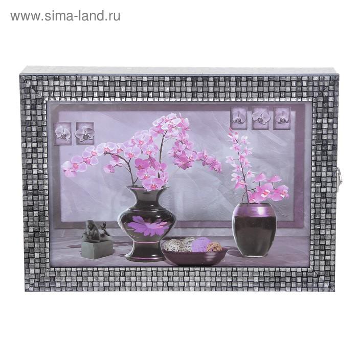 """Ключница  """"Орхидеи"""" багет 24х34х5 см"""
