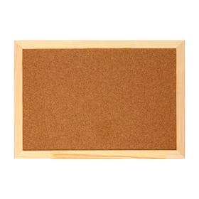 Доска пробковая 30х45 см, в деревянной раме Ош