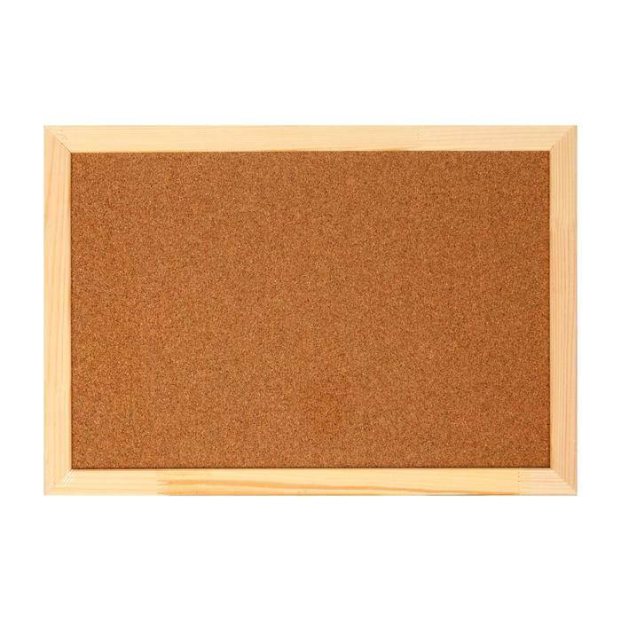 Доска пробковая А3, 30 х 45 см, в деревянной раме