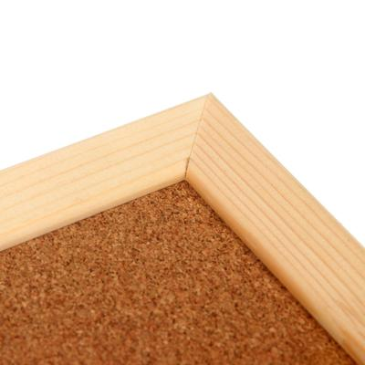 Доска пробковая 30 х 45 см, в деревянной раме