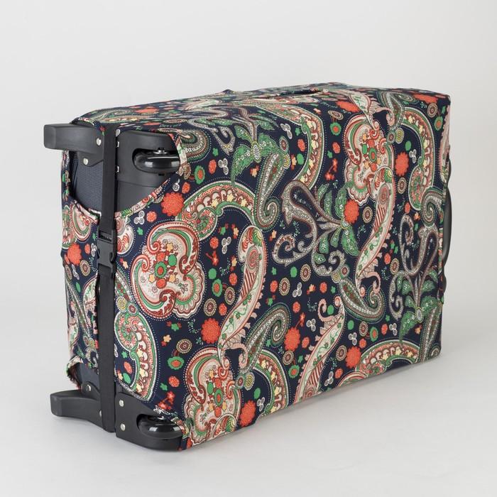 """Чехол для чемодана R-01 28"""", 47*28*69см, цвет огурцы зеленые на синем"""