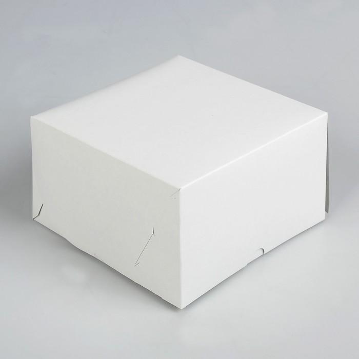 Упаковка для капкейков на 4 шт, без окна, белая 16 х 16 х 10 см - фото 308035371