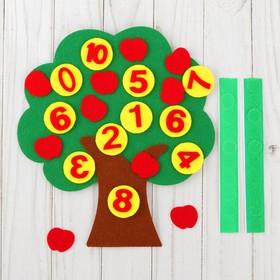 Развивающий коврик учим цифры «Дерево» из фетра