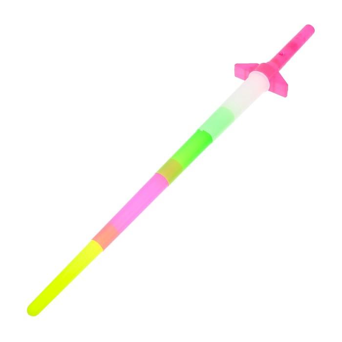 """Меч световой """"Яркий воин"""", световые эффекты, работает от батареек, цвета МИКС"""
