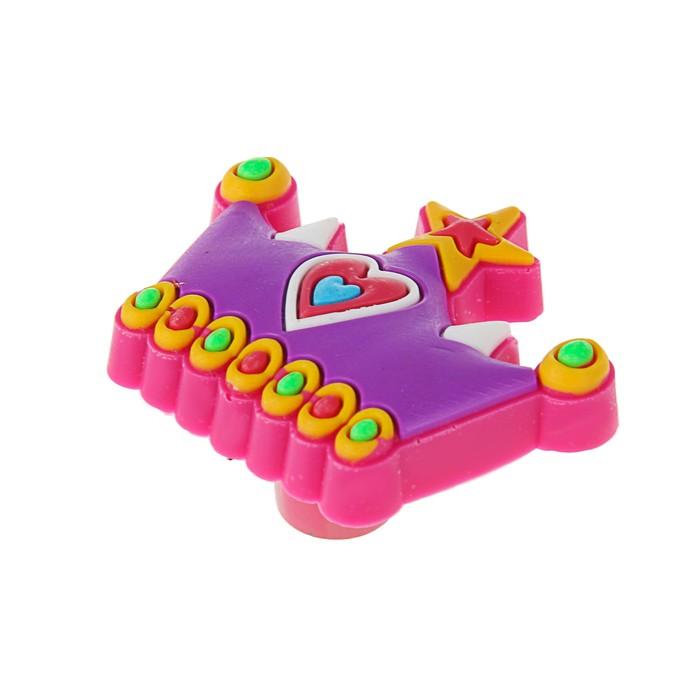 """Ручка кнопка детская KID 002, """"Корона"""", резиновая - фото 699022657"""