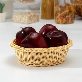 Корзинка для фруктов и хлеба Доляна «Ваниль», 21×21×7 см