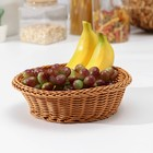 "A fruit basket and bread ""Cappuccino"" 21х21х7 cm"