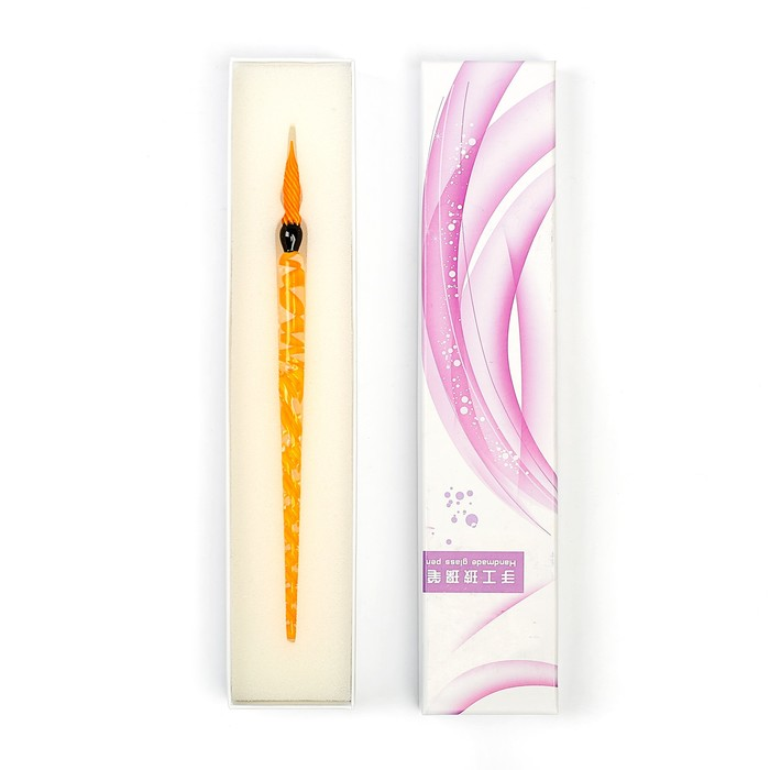 Ручка стеклянная для каллиграфии МИКС в подарочной коробке