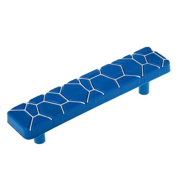 """Ручка скоба детская KID 031, """"Паутина"""", м/о 96 мм, резиновая, синяя"""