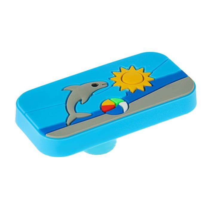 """Ручка кнопка детская KID 032, """"Пляж"""", резиновая - фото 700594072"""
