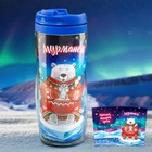 """Термостакан """"Мурманск. Медведь с тюленем"""", 350 мл."""