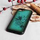 """Чехол для телефона, на iPhone 7, """"Цветы"""", бирюзовый"""