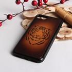 """Чехол для телефона, на iPhone 7, """"Тигр 4"""", цвет коричневый"""