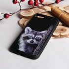 Чехол для телефона «Енот», на iPhone 7, цвет чёрный