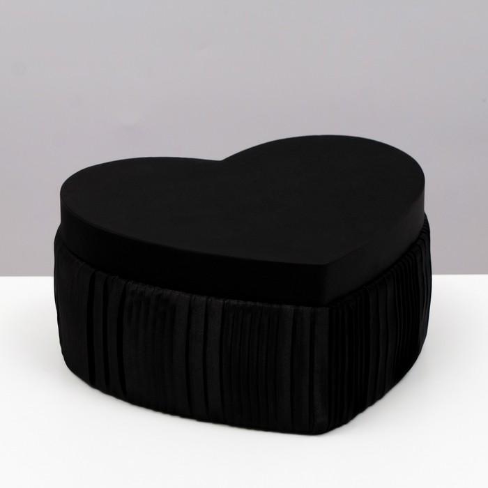 Коробка подарочная, чёрный, 25,5 х 23 х 12 см