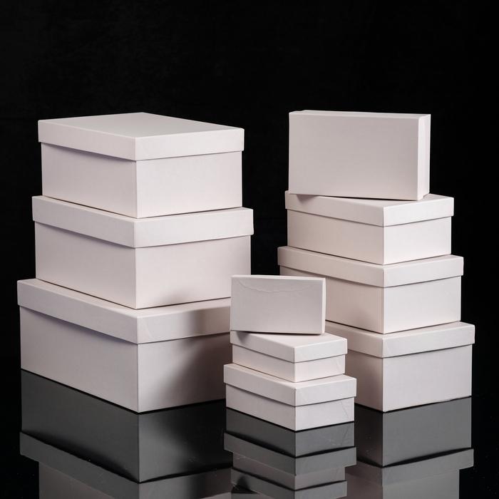 """Набор коробок 10в1 """"Розовый нюд"""", однотонные, 32 х 19,5 х 12,5 - 11,5 х 6,5 х 4 см"""