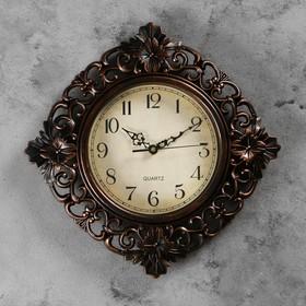 """Часы настенные, серия: Интерьер, """"Жанна"""", коричневые, 35х35 см, плавный ход в Донецке"""