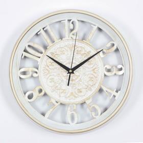 "Wall clock, series: Interior, ""Cyanotic"", white, d=30.5 cm"
