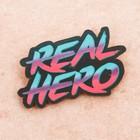 "Деревянный значок ""Real Hero"""