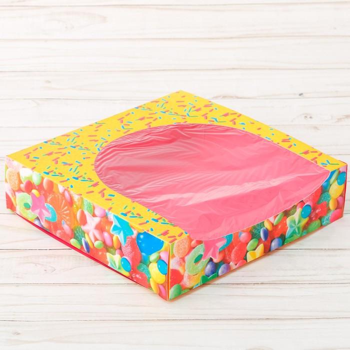 Коробка для сладостей «Вместе навсегда», 20 × 20 × 5 см