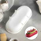 """Форма для муссовых десертов и выпечки 24,5×11,5 см """"Пиллоу"""", цвет белый"""