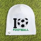 "Чепчик (шапочка) Крошка Я ""Я люблю футбол"" р-р 50 (1,5-2 года)"